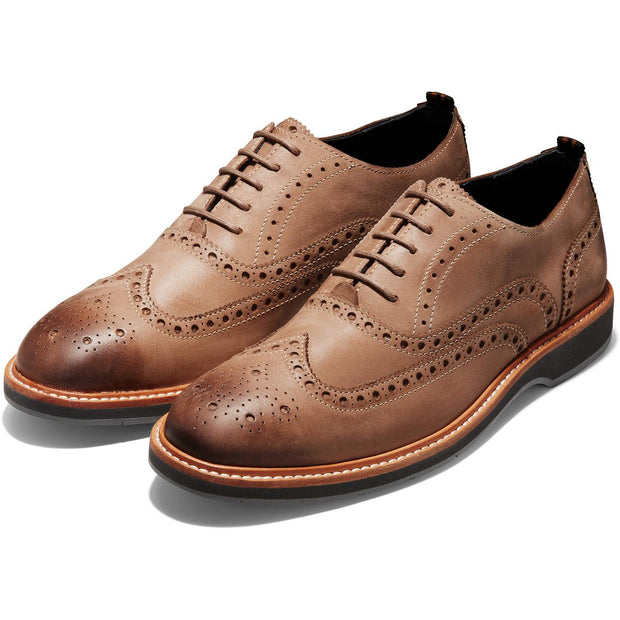 Morris Mens Leather Wingtip Oxfords