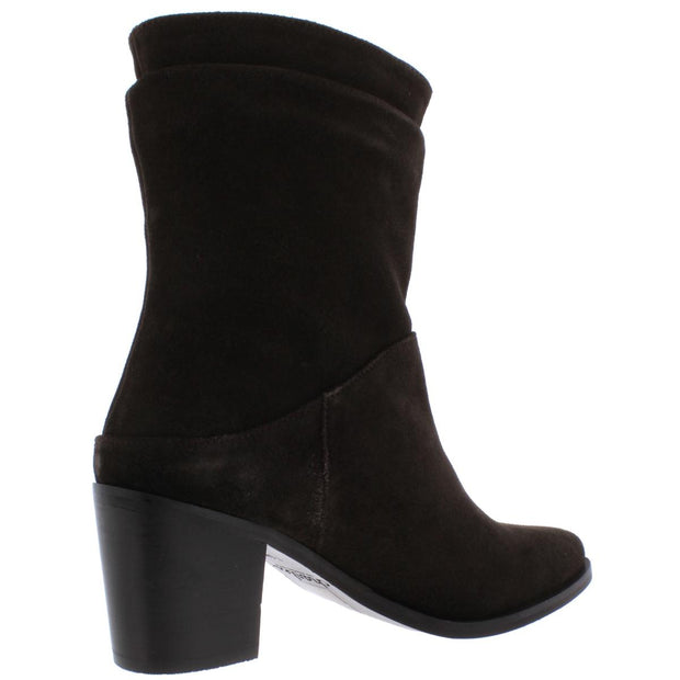 Younger Womens Suede Block Heel Dress Boots