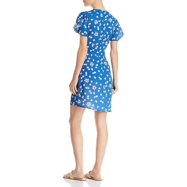 Verona Womens Floral Crepe Wrap Dress