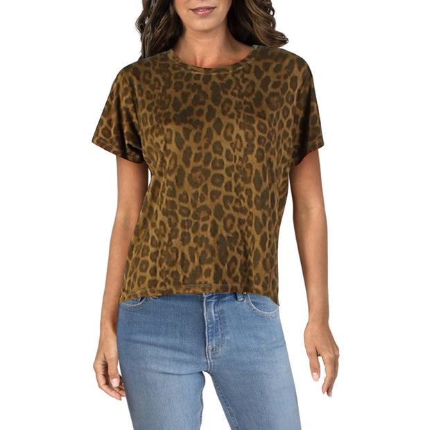 Womens Overdyed Animal Print T-Shirt
