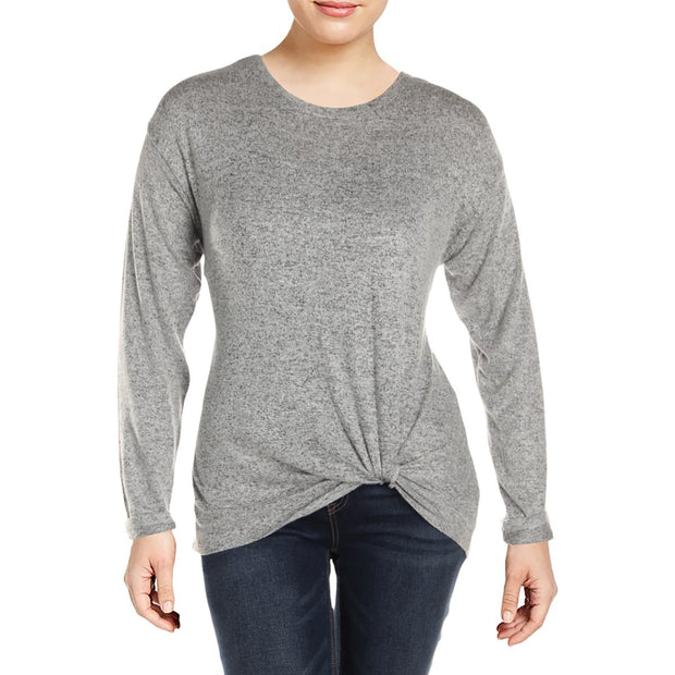 A+A Collection Womens Twist Front Jewel Neck Sweater