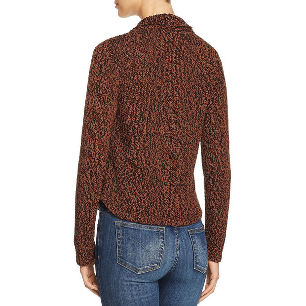 Eileen Fisher Womens Knit Two Tone Pullover Sweater