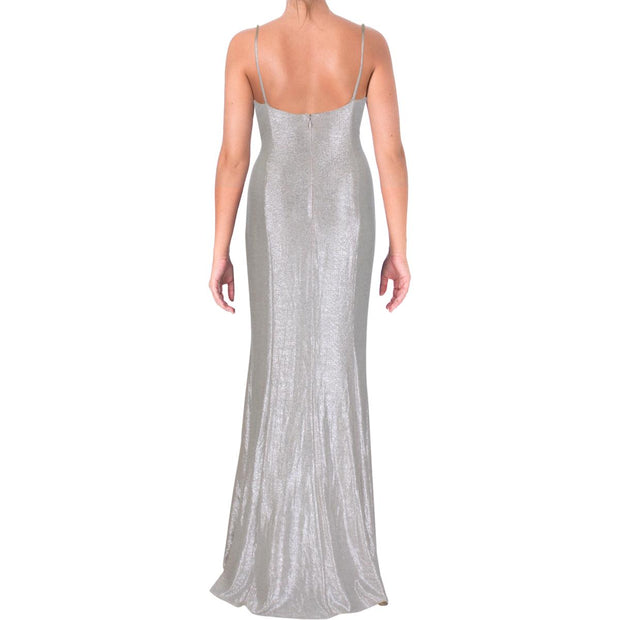 Aidan by Aidan Mattox Womens Metallic Special Occasion Evening Dress