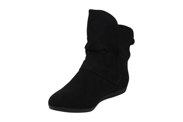 Rampage Womens Batton Suede Round Toe Ankle Fashion Boots