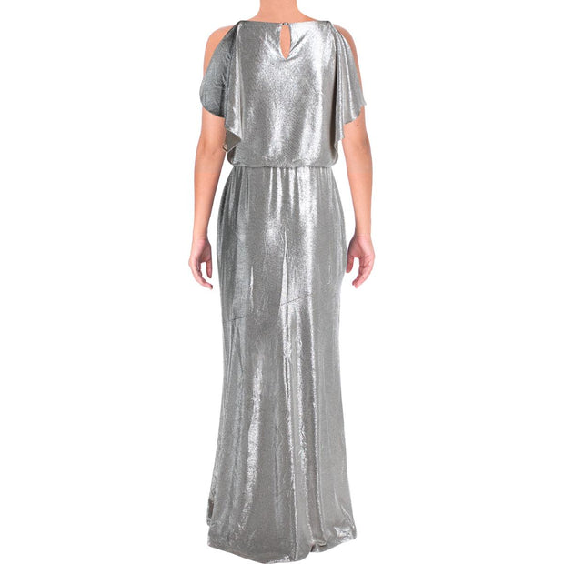 Lauren Ralph Lauren Womens Zelder Metallic Blouson Evening Dress