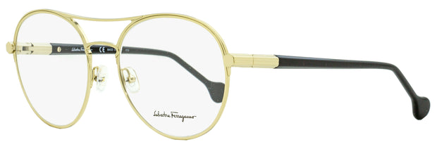 Salvatore Ferragamo Round Eyeglasses SF2174 733 Gold/Black 55mm 2174