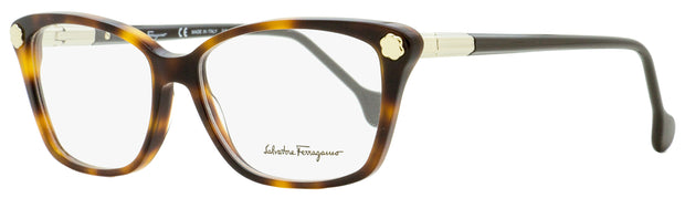 Salvatore Ferragamo Rectangular Eyeglasses SF2824 214 Tortiose/Light Gold 54mm 2824