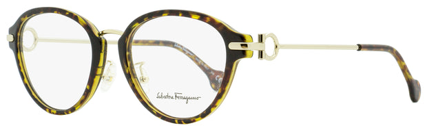 Salvatore Ferragamo Oval Eyeglasses SF2826 214 Tortiose/Gold 51mm 2826