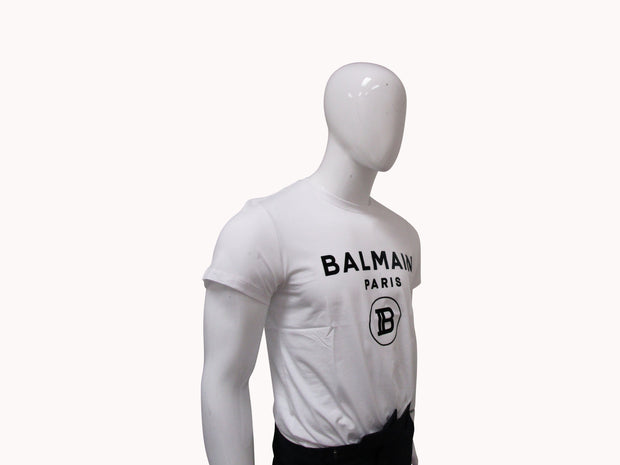 BALMAIN WHITE COTTON T SHIRT