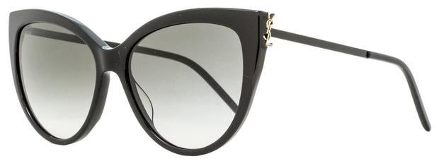 Saint Laurent Cateye Sunglasses SL M48SA 002 Shiny/Matte Black 56mm YSL