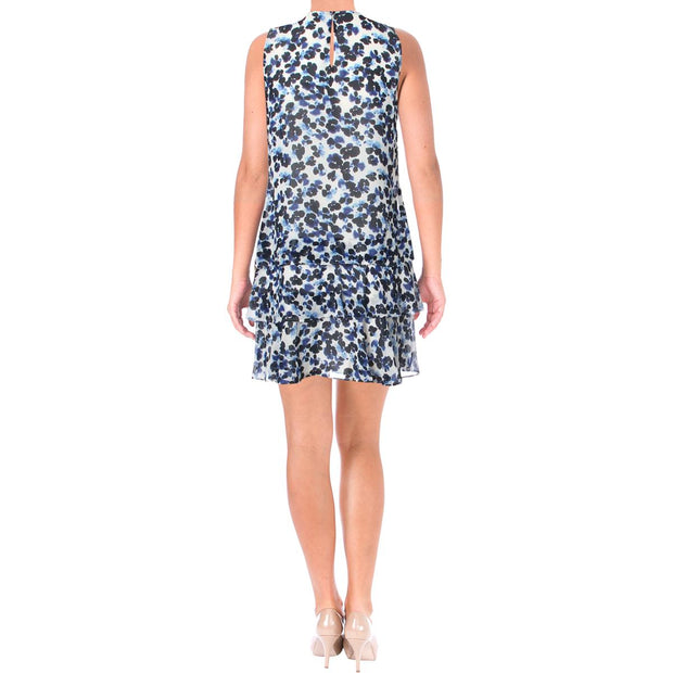 Lauren Ralph Lauren Womens Petites Tyree Sleeveless Printed Mini Dress