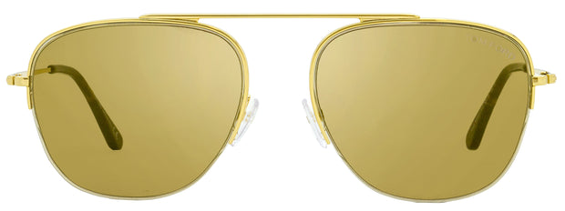 Tom Ford Semi-Rimless Sunglasses TF667 Abott 30G Yellow Gold/Havana 56mm FT0667
