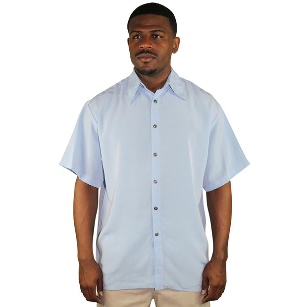 Moda Essentials Mens Collared Short Sleeve Button-Down Shirt
