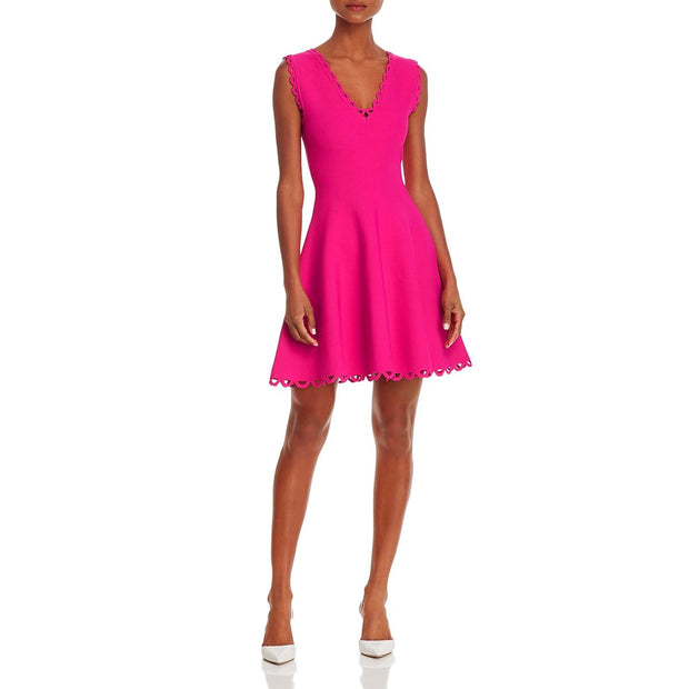 Womens V-Neck Mini Sheath Dress