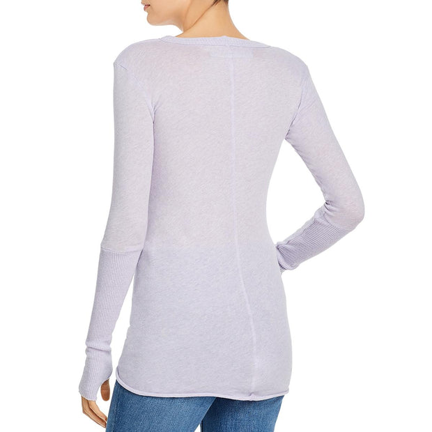 Womens Cashmere Cuffed Pullover Sweater