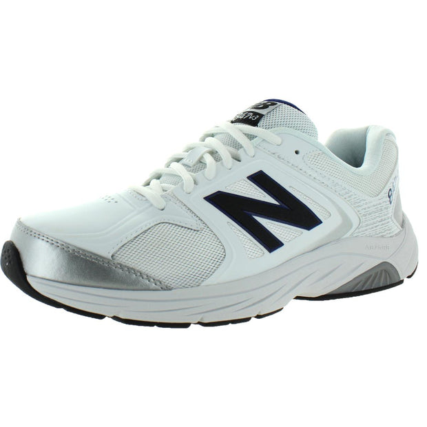 New Balance Mens 847 V3 Faux Leather Mesh Inset Walking Shoes