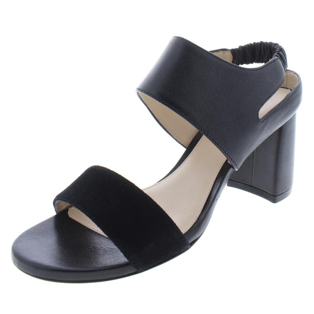 Erica Womens Leather Block Heel Dress Sandals