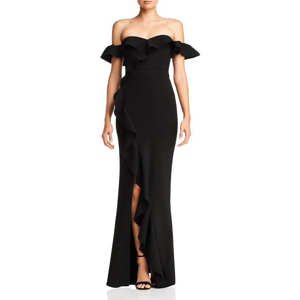 Likely Womens Miller Ruffled Off The Shoulder Formal Dress
