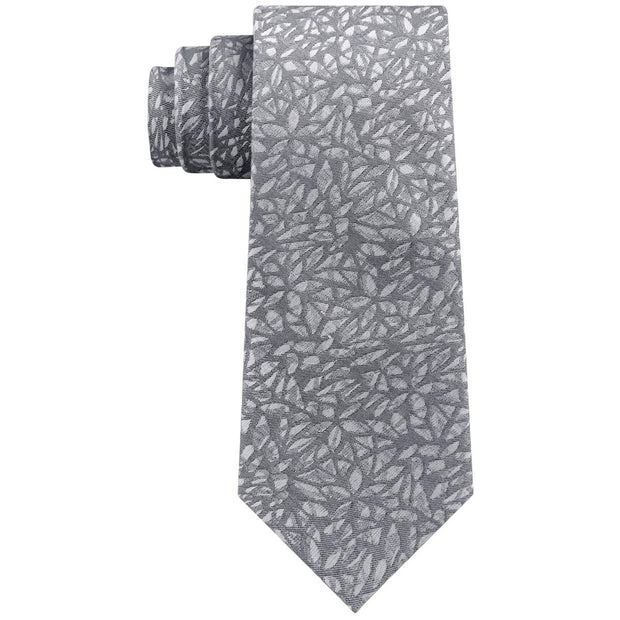 Mens Silk Blend Geo Neck Tie