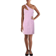 Laundry by Shelli Segal Womens Split Hem One Shoulder Cocktail Dress