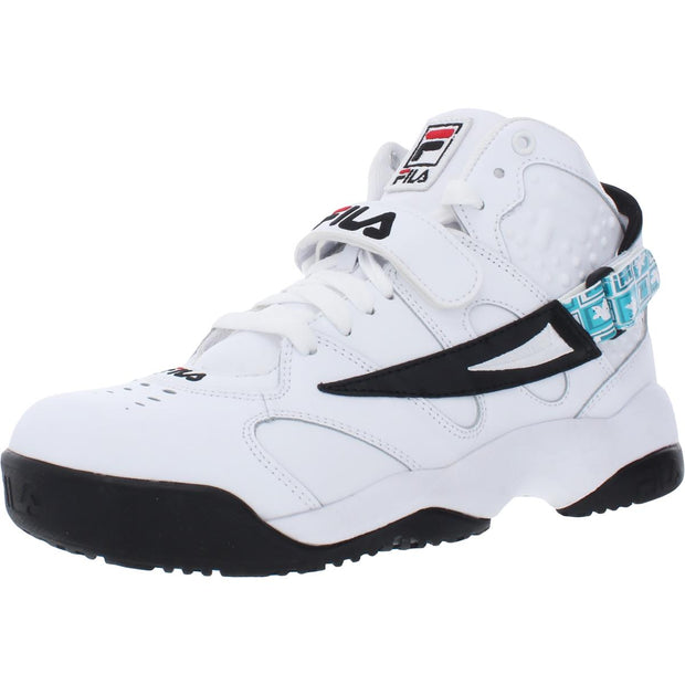 Spoiler X Grant Hill Draft Day Mens Leather Fitness Mid-Top Sneakers