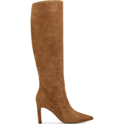Maxim Womens Suede Pointed Toe Knee-High Boots