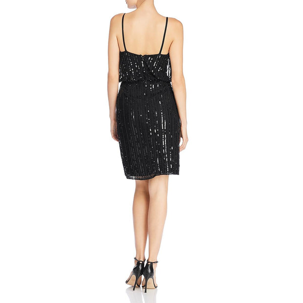 Aster Womens Sequined Slip Cocktail Dress