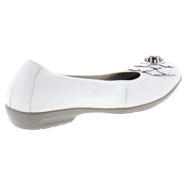 Feature Womens Leather Slip On Ballet Flats