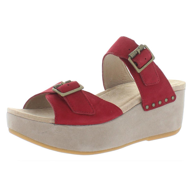 Selma Womens Nubuck Slip On Platform Sandals