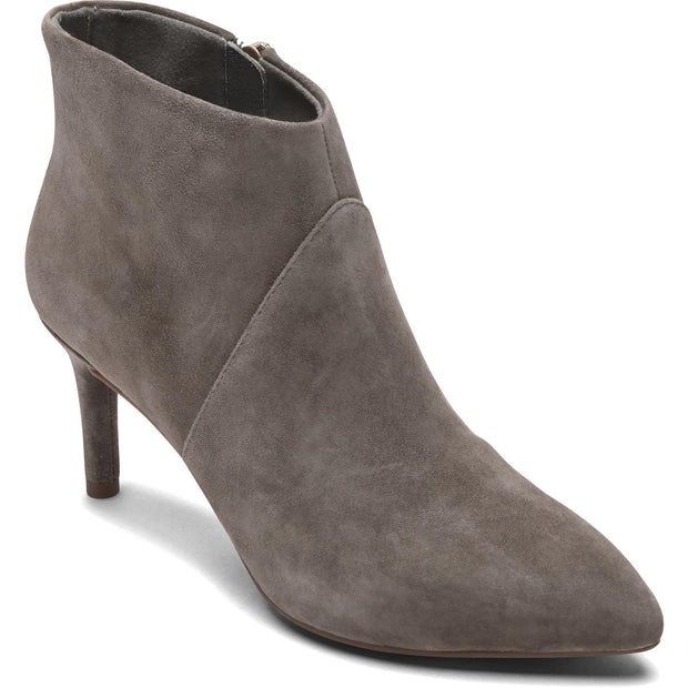 Womens Leather Solid Ankle Boots