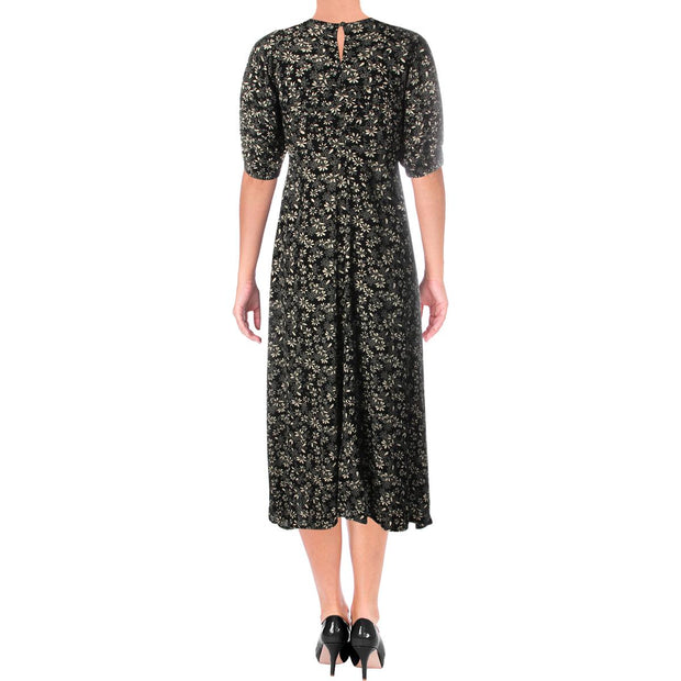 Jessie Womens Printed Pleated Casual Dress