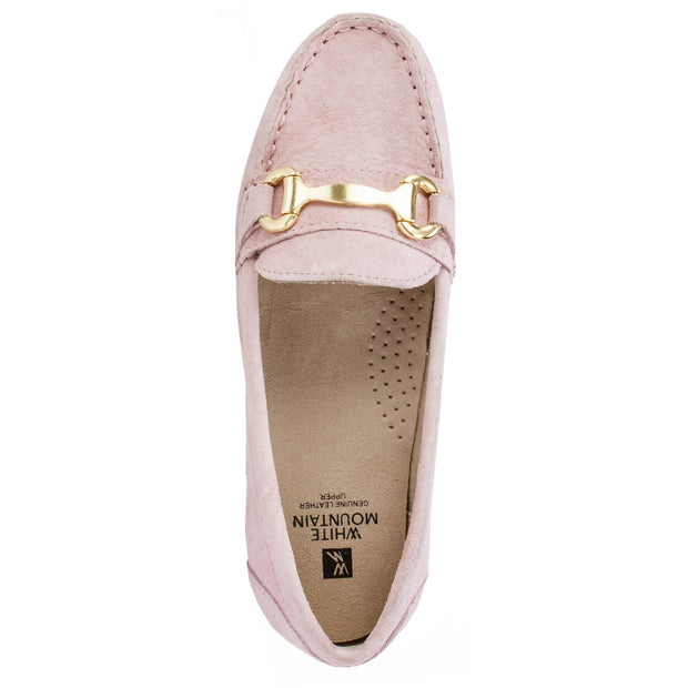White Mountain Womens Scotch Leather Closed Toe Loafers
