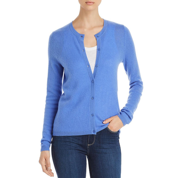 Private Label Womens Button-Down Crewneck Cardigan Sweater