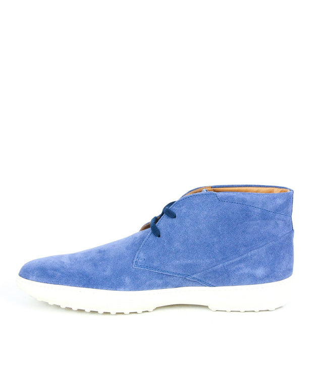 Tod's Men's Polacco Suede Leather Lace Up Shoes in Blue