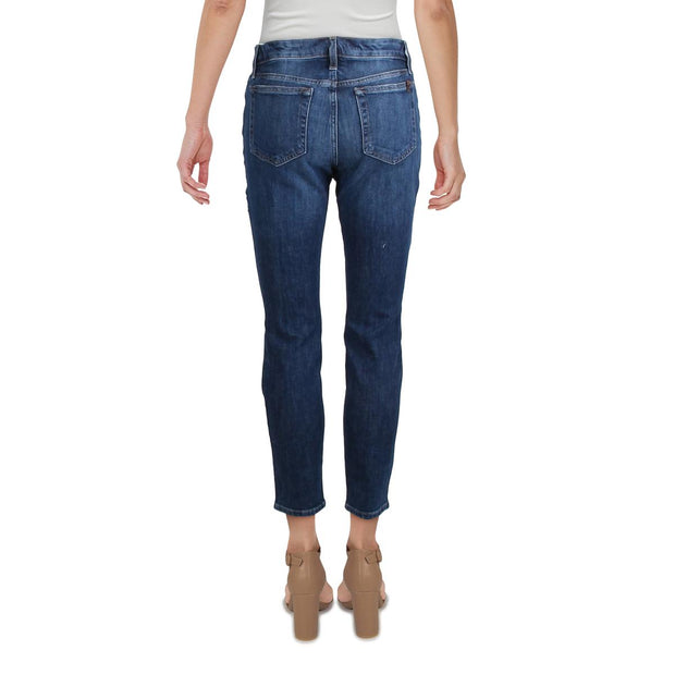 Womens Mid-Rise Ankle Skinny Jeans