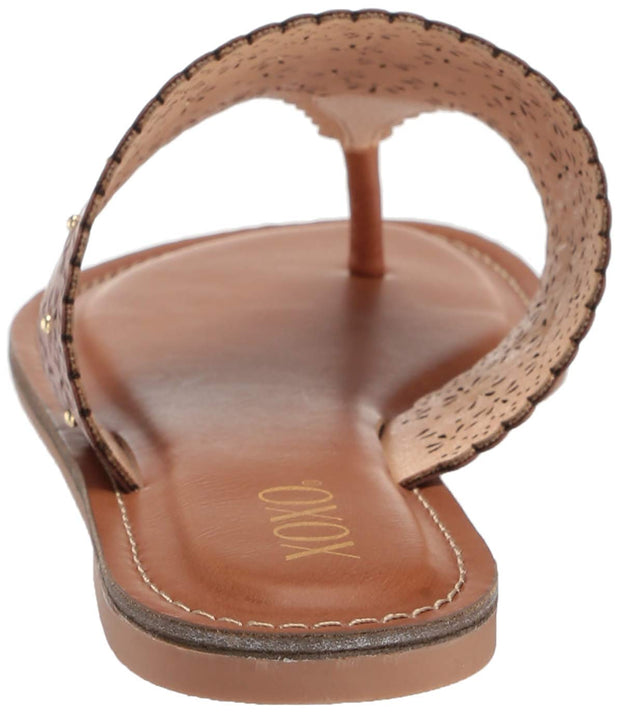 Xoxo Womens Rhonda Leather Open Toe Casual Slide Sandals