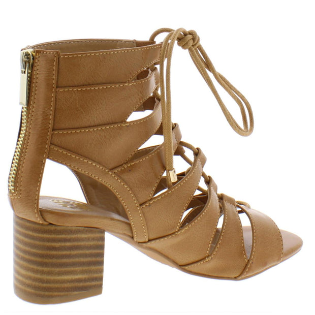 Evelyn Womens Block Heel Strappy Booties