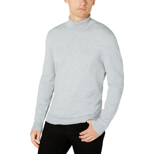 Mens Ribbed Knit Long Sleeve Turtleneck Sweater