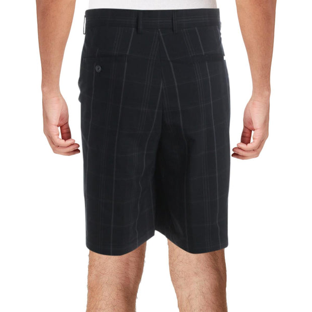 Greg Norman for Tasso Elba Mens Fairway Plaid High Rise Shorts