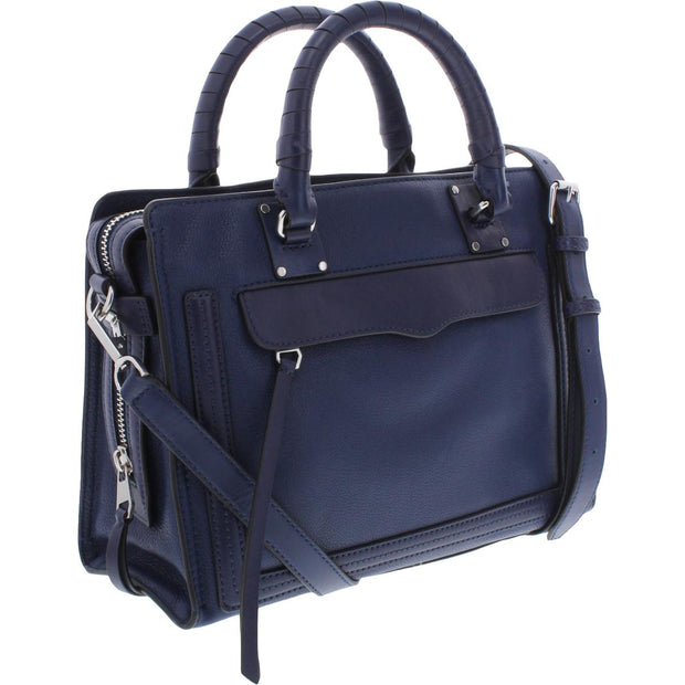 Womens Leather Signature Satchel Handbag