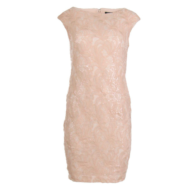 Womens Sequined Knee-Length Cocktail Dress
