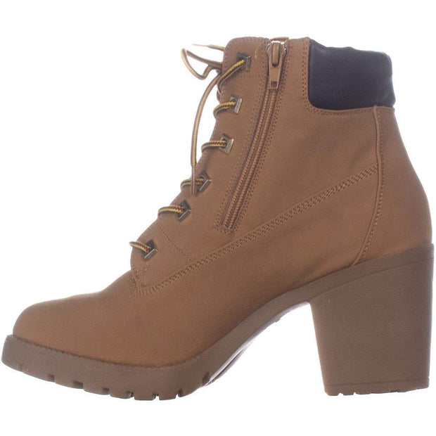 Ziginy Womens Kerin Fabric Almond Toe Ankle Combat Boots