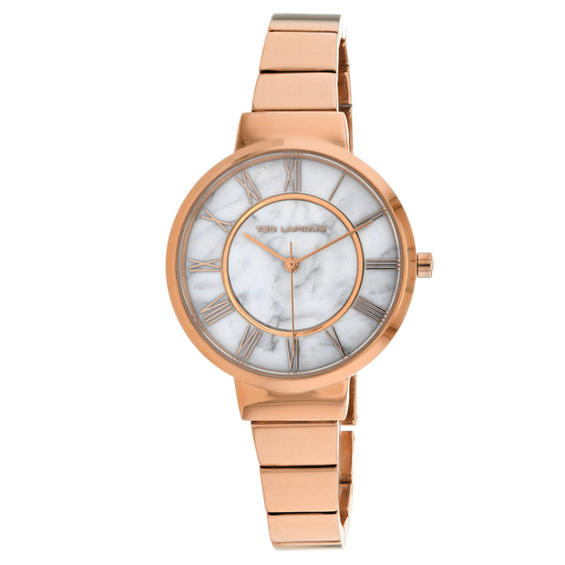 Ted Lapidus Women's Classic Marble white Dial Watch - A0714UARX