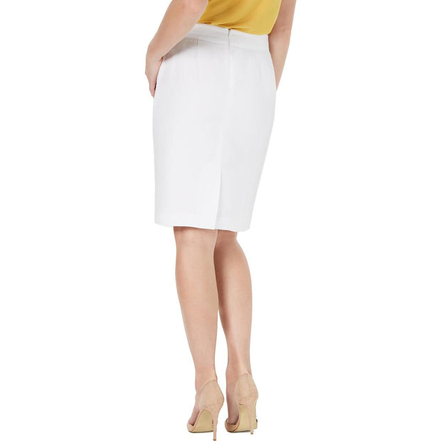Womens Linen Knit Midi Skirt