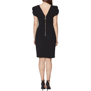 Womens Scuba Crepe Midi Dress