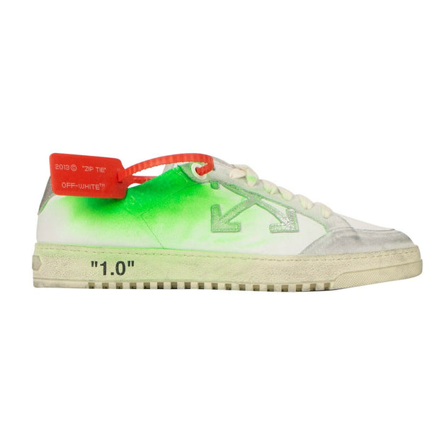 OFF WHITE c/o VIRGIL ABLOH White And Green Leather '2.0' Sneakers