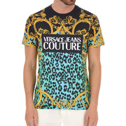 Versace Couture Men's Baroque Logo Tee Shirt Black