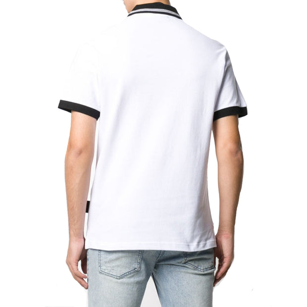 Versace Jeans Couture Men's Patch Logo Polo Shirt White