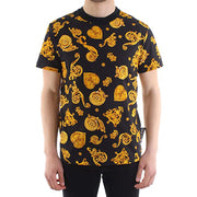 Versace Jeans Couture Men's Gold Jewelry Print Shirt Black