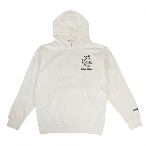 ANTI SOCIAL SOCIAL CLUB White 'Turbo' ASSC Logo Hooded Sweatshirt